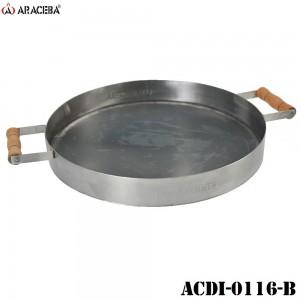 DISCO PICANHEIRO EM AÇO CARBONO COM BORDA INOX (DIÂM. 45 CM)